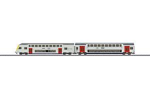"Märklin 43573 Themen-Ergänzungspackung ""Doppelstockwagen SNCB"" passend zu 29474"