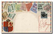 Dekorative alte AK mit Abb. diverser Mauritius-Marken