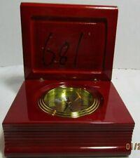 marco quartz clock inside wood book red