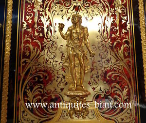 Antiques French Boulle marquetry Napoléon III period in perfect condition 19th