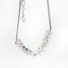 NEW Genuine 925 Sterling Silver Diamond Shaped 5mm Crystal Beads Charm Bracelet