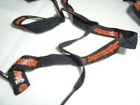 1 Pair of Jagermeister Shoe Laces - Black with Orange Print~SHIPS FREE!