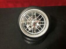 Tire Desk Clock 2 Tire Set w/alarm