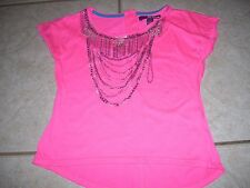 Girls hot pink top by Epic Threads size medium, high low, cute, great shape.