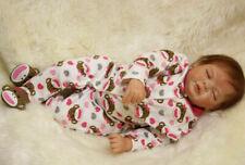 22inch Vinile Lifelike Reborn Baby Doll Kid playmate Vinyl Bambole rinascere T36