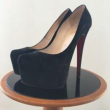 Christian Louboutin Daffodile 160, Black SUEDE Heels, 36