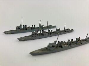 #254 Neptun 1:1250 US-Navy 2.Weltkrieg  3x BAINBRIDGE Konvolut Marine