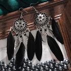 Fashion 925 Silver Dangle Drop Earrings Hook Women Feather Jewelry Ear Gifts