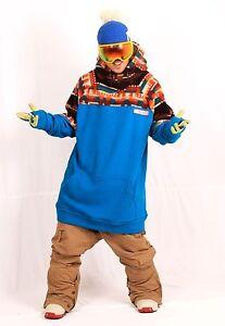 December long tall hoodie ski snowboard-PHANTOM BLUE