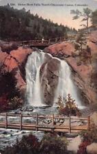 CO, Colorado  HELEN HUNT FALLS~PEOPLE ON BRIDGE~CHEYENNE CANYON c1910's Postcard