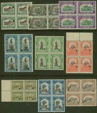 Peru 1907 set American Bank Note Co. specimen BLOCKS -4
