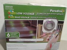 New Paradise Stainless Steel Multi Color LED Deck Light Kit 6-Pack with remote