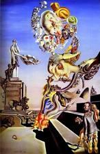 Incorniciato stampa-Salvador Dali il gioco lugubri (Pittura foto poster arte)