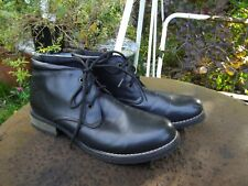 Black leather ankle boots, Size 7