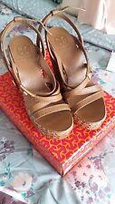 Women's Tory Burch Platform Sandals Leather Size 8