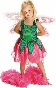 Kostüm Mädchen Fee mit Flügeln Karneval Kostüm Fasching Kleid Elfe Halloween