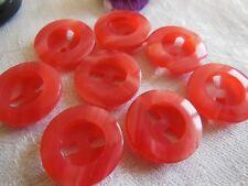 lot 6 Boutons vintage camaieu rose deux trous diamètre: 2,1 cm ref 1352