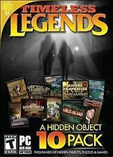Timeless Legends A Hidden Object 10 PACK (PC, 2012)   10 games in one! BRAND NEW
