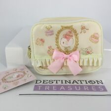 Hello Kitty X Laduree Macaron CREAM Tissue & Cosmetic Makeup Pouch Case for Bag