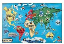 Melissa & Doug World Map Floor Puzzle (33 pieces)