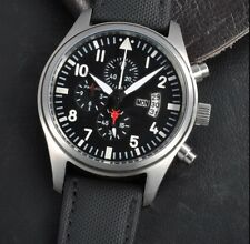 46mm PARNIS IW HOMAGE QUARTZ CHRONOGRAPH PILOT AVIATOR WATCH UK SELLER STUNNING