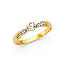 14K Yellow Gold 0.50 CT Diamond Round Cut Solitaire Engagement Wedding Ring