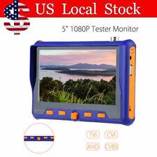 "1V4 TVI+CVI+AHD+VGA+CVBS Tester Monitor 5"" LCD 1080P 2MP HD Camera CCTV Test 12V"