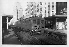 NYC 6th AVENUE ELEVATED SUBWAY TRAIN ROCKEFELLER CENTER STA PHOTO 1930s FreeShip