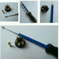Screwdriver Set Phillips Flat Head Magnetic Long Reach Rubber Screws Black DG
