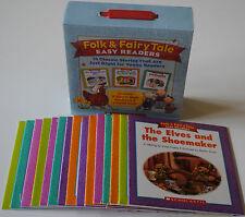15 Lot Fairy Tales Early Readers Books BOX SET Homeschool Grade 1 2 Levels E-I