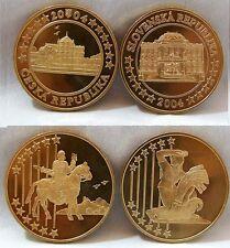 República Checa & Eslovaquia 2004 ensayo Prooflike patrón 5 monedas de euro UNC