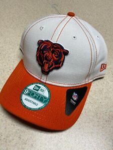 Chicago Bears NFL New Era White 4th Down 9FORTY Cap Hat Alternate Logo Snapback