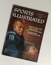 Vintage Sports Illustrated Magazine Oct. 5, 1959 Johnny Unitas Cover  *no label
