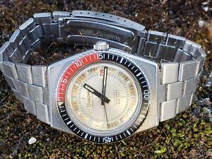 Bulova Oceanographer Snorkel 666feet•Coke•Original signed bracelet•Auto•Serviced