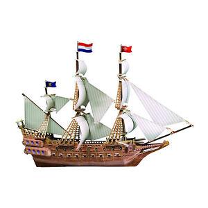 Spanish Ship 3D Building Toy 229 Piece Model DIY Educational Fun Build Hobby Kit