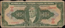 More details for brazil 10 cruzeiros banknote 'signed'   banknotes   km coins