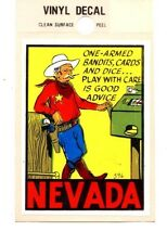 Lot of 12 Nevada One-Armed Bandits Luggage Decals Stickers - New - Free S&H