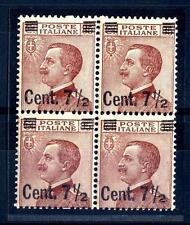 ITALIA - Regno - 1923/27 - Francobolli del 1901-20 - sovr. 7 1/2 su 85 - Quart.