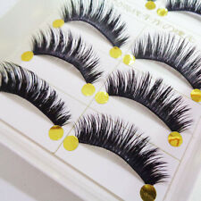 5 Pairs Natural Long Soft Eye Lashes Makeup Thick Fake False Party Eyelashes kl