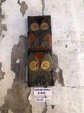 Ceramic Owl Tile Mid Century Art Pottery Amphora Perignem Modernist Vandeweghe