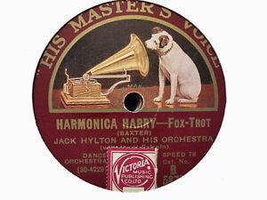 JACK HYLTON - Harmonica Harry / The King's Horses 78 rpm disc (A++)