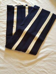 Scarf - Navy / White - Homerton College Cambridge Colours