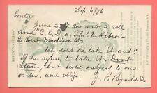 MILITARY ESCUTCHEONS / COAT of ARMS SHIELD Illus 1876 PC Blue CHICAGO IL Carrier