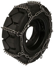 Quality Chain 1507STUDDED 8mm Studded Link Skid Steer Bobcat Tire Chains Snow