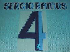 Spanish La Liga  2012-2013 Real Madrid #4 Sergio Ramos Homekit NameSet Printing