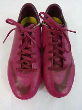 Nike Rosa pelle Calcio Tacchetti US Giovani Misura 4.5 / Euro 36.5/ UK 4
