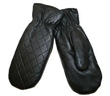 PIECES Damen Leder Handschuhe DASIC LEATHER MITTEN Gr. M (7,5 (M/L))