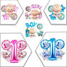 5pcs 1st Birthday Baby Shower Foil Helium Balloon Set Party Decoration Pink Blue