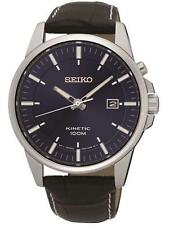 Seiko SKA731P1 Gents Leather Strap Date Kinetic 100m WR Watch RRP £229