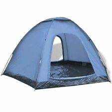 vidaXL 6-Person Tent Blue Outdoor Patio Camping Hiking Sun Shelter Family Trip